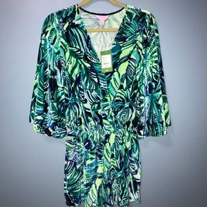 NWT XS Viviana velour romper Lilly Pulitzer